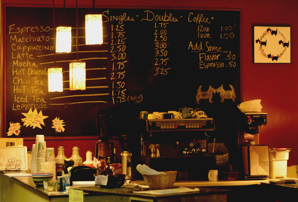 Coffee Menu Chalkboard